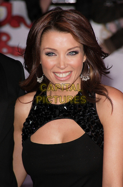 DANNII MINOGUE.The National Television Awards, Royal Albert Hall, London, England..October 31st, 2007.TV half length black dress sleeveless jewel encrusted cut out away.CAP/ROS.©Steve Ross/Capital Pictures