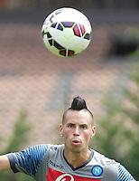 Marek Hamsik <br /> ritiro precampionato Napoli Calcio a  Dimaro 23 Luglio 2014<br /> <br /> Preseason summer training of Italy soccer team  SSC Napoli  in Dimaro Italy July 23, 2014