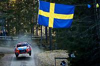 13th February 2020, Torsby base and Karlstad, Värmland County, Sweden; WRC Rally of Sweden, Shakedown event;  Ott Tanak (EST) - Martin Jarveoja (EST) - Hyundai i20 WRC