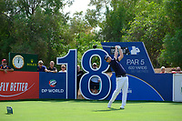 Brandon Grace (RSA) on the 18th tee during the 3rd round of the DP World Tour Championship, Jumeirah Golf Estates, Dubai, United Arab Emirates. 17/11/2018<br /> Picture: Golffile | Fran Caffrey<br /> <br /> <br /> All photo usage must carry mandatory copyright credit (&copy; Golffile | Fran Caffrey)