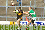 Kieran O'Leary Dr Crokes Derek Pyne Legion....Dr. Crokes v Legion in the third round of the county football Championship at Fitzgerald Stadium.