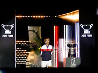 9th November 2019; RAC Arena, Perth, Western Australia, Australia; Fed Cup by BNP Paribas Tennis Final, Day 1, Australia versus France; Julien Benneteau Captain of France enters the arena
