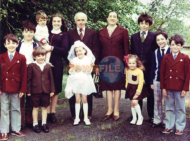 The Muldoon family picture taken shortly before Kathleen (Holding Child in Back) was killed in the STardust fire in Dublin..Photo NEWSFILE/Eoin Clarke..(Photo credit should read Eoin Clarke/NEWSFILE)...This Picture has been sent you under the condtions enclosed by:.Newsfile Ltd..the Studio,.Millmount Abbey,.Drogheda,.Co Meath..Ireland..Tel: +353(0)41-9871240.Fax: +353(0)41-9871260.GSM: +353(0)86-2500958.email: pictures@newsfile.ie.www.newsfile.ie.FTP: 193.120.102.198..This picture is from Fran Caffrey@newsfile.ie