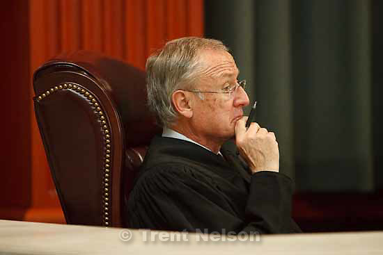 Justice Ronald E. Nehring. Attorneys for convicted polygamist leader Warren Jeffs argued their case before the Utah Supreme Court Tuesday, November 3 2009 in Salt Lake City, hoping to overturn Jeffs' 2007 conviction as an accomplice to rape.