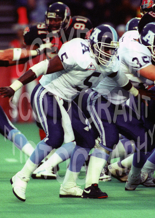 Kevin SmellieToronto Argonauts 1992. Photo F. Scott Grant