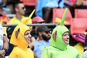 2nd February 2019, Spotless Stadium, Sydney, Australia; HSBC Sydney Rugby Sevens; fans in fancy dress enjoying the games