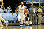 28 December 2015: North Carolina's Joel Berry II. The University of North Carolina Tar Heels hosted the UNC Greensboro Spartans at the Dean E. Smith Center in Chapel Hill, North Carolina in a 2015-16 NCAA Division I Men's Basketball game. UNC won the game 96-63.