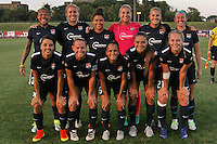 Piscataway, NJ - Saturday Aug. 27, 2016: Sky Blue FC starting eleven prior to a regular season National Women's Soccer League (NWSL) match between Sky Blue FC and the Chicago Red Stars at Yurcak Field.