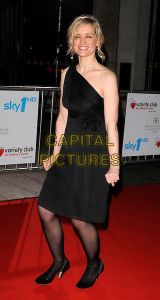 ANNE-MARIE DUFF.Attending the Variety Club Showbiz Awards 2008, held at Grosvenor House Hotel, London, England, .November 16th 2008..full length black one shoulder dress tights shoes Anne Marie .CAP/CAN.©Can Nguyen/Capital Pictures