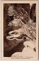 Europe/Europe/France/Midi-Pyrénées/46/Lot/Padirac: Gouffre de Padirac - La rivière souterraine - Le Lac supérieur avec ses gours et la Pile d'assiette - Vieille carte Postale Collection Société du Gouffre de Padirac  -Reproduction - Autorisation nécessaire