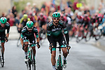Bora-Hansgrohe on the front of the peloton during Stage 1 of the Criterium du Dauphine 2019, running 142km from Aurillac to Jussac, France. 9th June 2019<br /> Picture: Colin Flockton | Cyclefile<br /> All photos usage must carry mandatory copyright credit (© Cyclefile | Colin Flockton)