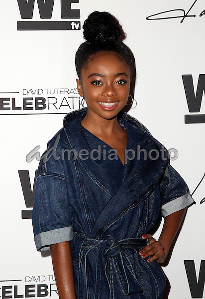 """29 January 2016 - Hollywood, California - Skai Jackson. """"Daya"""" By Zendaya Shoe Line Launch Party to be featured on an upcoming episode of WE tv's David Tutera's CELEBrations held at Raleigh Studios. Photo Credit: Parisa Michelle/AdMedia"""