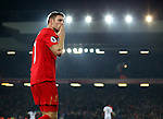 James Milner of Liverpool blows a kiss to the Kop after he scored the second goal during the Premier League match at the Anfield Stadium, Liverpool. Picture date: November 26th, 2016. Pic Simon Bellis/Sportimage