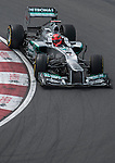 Mercedes AMG Petronas F1 Team driver Michael Schumacher of Germany speeds his W03 car during the F1 Grand Prix du Canada at the Circuit Gilles-Villeneuve on June 08, 2012 in Montreal, Canada. Photo by Victor Fraile / The Power of Sport Images