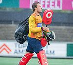 AMSTELVEEN - keeper Koene Schaper (HCKZ) tijdens de hoofdklasse competitiewedstrijd mannen, Amsterdam-HCKC (1-0).  COPYRIGHT KOEN SUYK