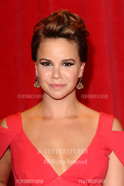 Jessica Fox arriving for the 2014 British Soap Awards, at the Hackney Empire, London. 24/05/2014 Picture by: Steve Vas / Featureflash