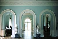 Sir John Soane: Pitshanger Manor, London. Soane's teacher, George Dance The Younger  (1741-1828) designed this eating room, 1768.