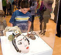 Young at Art opening, MMOCA exhibit featuring kid artists from Madison on Sunday, 3/20/11, at the Madison Museum of Contemporary Art in Madison, Wisconsin