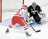 Garrett Noonan (BU - 13) scored his seventh on the season and the final goal of the game at 7:02 of the third period. - The Boston University Terriers defeated the visiting Providence College Friars 6-1 on Friday, January 20, 2012, at Agganis Arena in Boston, Massachusetts.