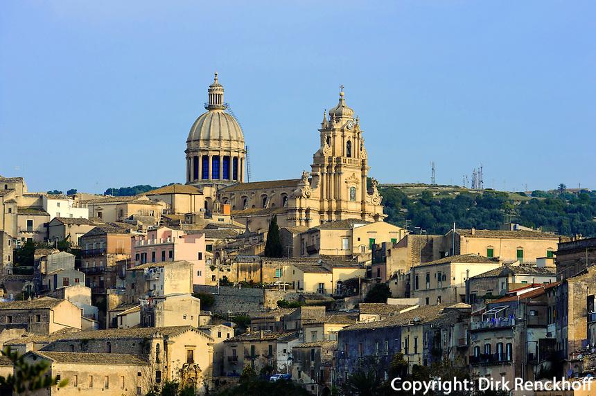 Blick auf Ragusa-Ibla, Sizilien, Italien, Unesco-Weltkulturerbe