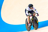 Picture by Alex Whitehead/SWpix.com - 10/12/2017 - Cycling - UCI Track Cycling World Cup Santiago - Velódromo de Peñalolén, Santiago, Chile - Russia's Daria Shmeleva compete in the Women's Team Sprint qualifying.