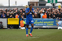 Frustration for Michael Folivi of AFC Wimbledon after a missed chance during AFC Wimbledon vs Millwall, Emirates FA Cup Football at the Cherry Red Records Stadium on 16th February 2019