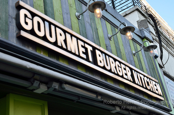 Gourmet Burger Kitchen Restaurant in Westbourne Grove, London, UK.