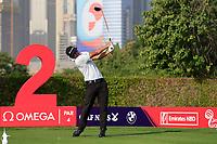 Kurt Kitayama (USA) on the 2nd tee during Round 3 of the Omega Dubai Desert Classic, Emirates Golf Club, Dubai,  United Arab Emirates. 26/01/2019<br /> Picture: Golffile | Thos Caffrey<br /> <br /> <br /> All photo usage must carry mandatory copyright credit (© Golffile | Thos Caffrey)