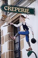 Europe/France/Pays de la Loire/44/Loire-Atlantique/Piriac: Enseigne d'une crêperie