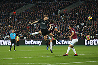 Burnley's Chris Wood scores his side's second goal <br /> <br /> Photographer Rob Newell/CameraSport<br /> <br /> The Premier League - West Ham United v Burnley - Saturday 3rd November 2018 - London Stadium - London<br /> <br /> World Copyright &copy; 2018 CameraSport. All rights reserved. 43 Linden Ave. Countesthorpe. Leicester. England. LE8 5PG - Tel: +44 (0) 116 277 4147 - admin@camerasport.com - www.camerasport.com