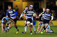 Leroy Houston of Bath Rugby goes on the attack. Aviva Premiership match, between Bath Rugby and Newcastle Falcons on March 18, 2016 at the Recreation Ground in Bath, England. Photo by: Patrick Khachfe / Onside Images