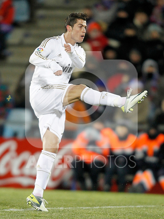 Real Madrid's Cristiano Ronaldo during La Liga match. February 04, 2012. (ALTERPHOTOS/Alvaro Hernandez)