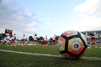 Cary, NC - Saturday April 22, 2017: NWSL Match Ball prior to a regular season National Women's Soccer League (NWSL) match between the North Carolina Courage and the Portland Thorns FC at Sahlen's Stadium at WakeMed Soccer Park.