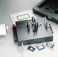 MICHELSON/FABRY-PEROT INTERFEROMETER<br /> Incorporates Fabry-Perot method<br /> Multi-mode model  including Fabry-Perot set-up in which a light beam is reflected between two glass or quartz plates a number of times before it is transmitted.