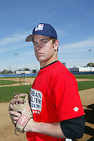 February 10 2008: Tyler Sanborn participates in a MLB pre draft workout for high school players at the Urban Youth Academy in Compton,CA.  Photo by Larry Goren/Four Seam Images