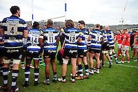 A general view of Bath Rugby players after the match. Aviva Premiership match, between Bath Rugby and Saracens on December 3, 2016 at the Recreation Ground in Bath, England. Photo by: Patrick Khachfe / Onside Images