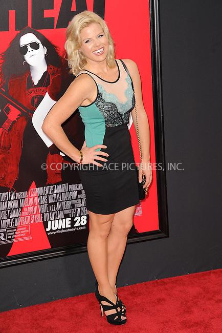 WWW.ACEPIXS.COM<br /> June 23, 2013...New York City <br /> <br /> Megan Hilty attending 'The Heat' New York Premiere at the Ziegfeld Theatre on June 23, 2013 in New York City.<br /> <br /> Please byline: Kristin Callahan... ACE<br /> Ace Pictures, Inc: ..tel: (212) 243 8787 or (646) 769 0430..e-mail: info@acepixs.com..web: http://www.acepixs.com