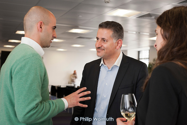 Eric Van Der Kleij, Head of Level39 Fintech Accelerator at Canary Wharf.  Springboard event: Tech start-ups rehearse pitching to potential investors.
