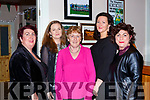 Louise Finnegan, Aisling O'Donoghue, Kate Fleming, Irene O'Donoghue and Geraldine Piggot enjoying the Kilcummin ladies Women's Christmas dance in aid of the Ian O'Connell fund in the Klub bar Kilcummin on Saturday night