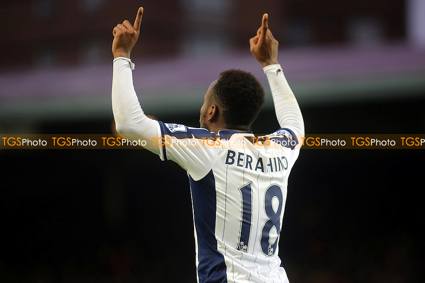 Saido Berahino celebrates scoring West Brom's opening goal - West Ham United vs West Bromwich Albion - Barclays Premier League Football at the Boleyn Ground, Upton Park, London - 01/01/15 - MANDATORY CREDIT: Paul Dennis/TGSPHOTO - Self billing applies where appropriate - contact@tgsphoto.co.uk - NO UNPAID USE