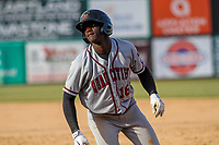 Quad Cities River Bandits outfielder Daz Cameron (16) during a Midwest League game against the Wisconsin Timber Rattlers on April 8, 2017 at Fox Cities Stadium in Appleton, Wisconsin.  Wisconsin defeated Quad Cities 3-2. (Brad Krause/Four Seam Images)