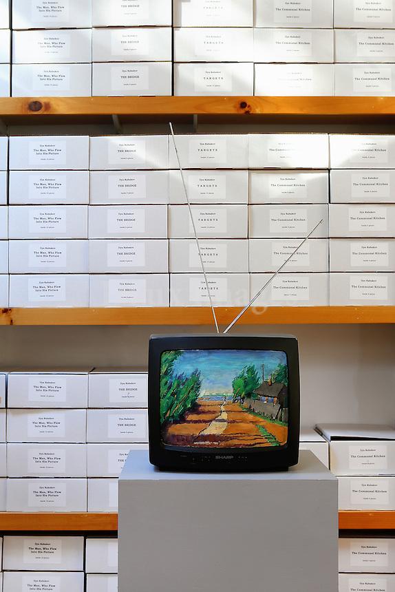 Tv screen artwork installation