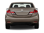 Straight rear view of a 2013 Honda Civic Sedan EX