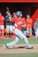 University of Houston Cougars infielder Josh Vidales (8) during game game 2 of a double header against the Rutgers Scarlet Knights at Bainton Field on April 5, 2014 in Piscataway, New Jersey. Houston defeated Rutgers 9-1.      <br />  (Tomasso DeRosa/ Four Seam Images)