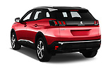 Car pictures of rear three quarter view of a 2018 Peugeot 3008 Allure 5 Door SUV angular rear
