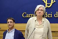Roma, 5 Agosto 2015<br /> Claudio Fava, Rosy Bindi.<br /> Camera dei Deputati.<br /> La commissione antimafia presenta alla stampa la relazione sui giornalisti minacciati