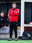 Solna 2015-10-11 Fotboll Damallsvenskan AIK - FC Roseng&aring;rd :  <br /> Roseng&aring;rds huvudtr&auml;nare tr&auml;nare Jack Majgaard Jensen under matchen mellan AIK och FC Roseng&aring;rd <br /> (Foto: Kenta J&ouml;nsson) Nyckelord:  Damallsvenskan Allsvenskan Dam Damer Damfotboll Skytteholm Skytteholms IP AIK Gnaget  FC Roseng&aring;rd portr&auml;tt portrait