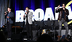"Claybourne Elder, Kyle Dean Massey and Bobby Conte Thornton from ""Company""  during the BroadwayCON 2020 First Look at the New York Hilton Midtown Hotel on January 24, 2020 in New York City."