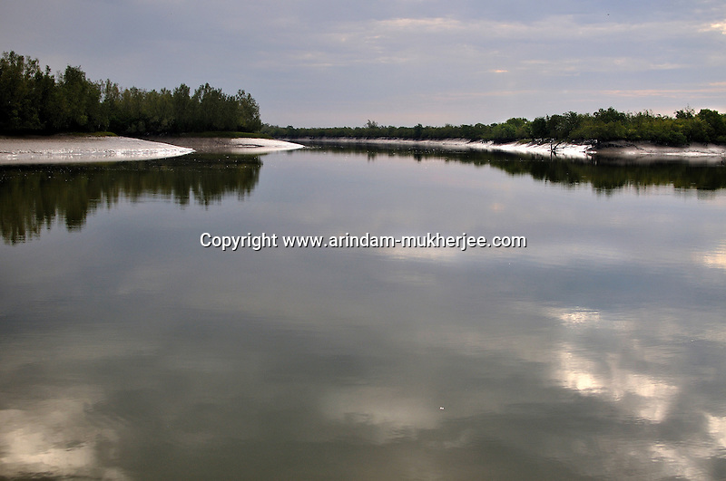 The forest of Sunderban as seen from a forest outpost. April 2011, India, Arindam Mukherjee
