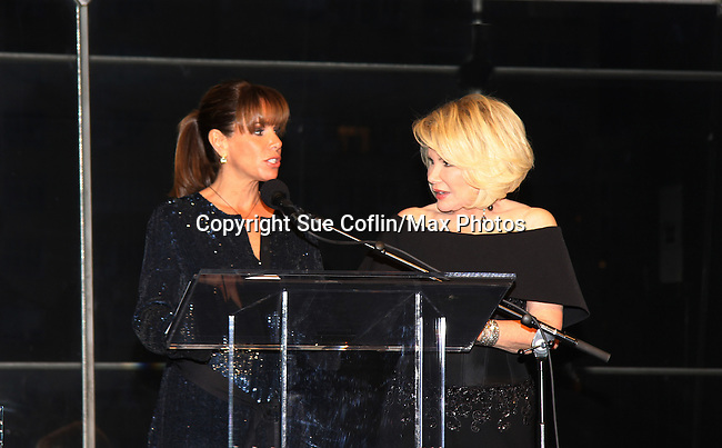 Melissa (Bold and the Beautiful) and Joan Rivers (Another World) are the hosts of the American Foundation for Suicide Prevention (AFSP) 23rd Annual Lifesavers Dinner on May 11, 2011 at the Allen Room at the Time Warner Center, New York City, New York. (Photo by Sue Coflin/Max Photos - 917-647-8403)